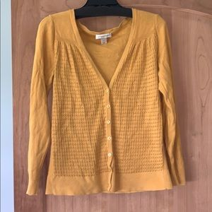 Christopher & Banks Mustard cardigan